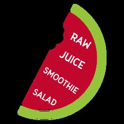 Smoothie de suco de melancia cru salada plana