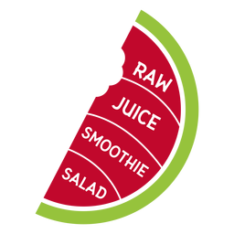 Watermelon raw juice smoothie salad flat