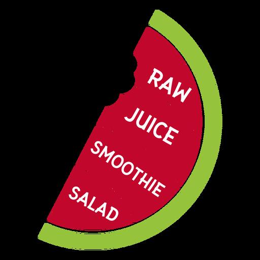Smoothie de suco de melancia cru salada plana Transparent PNG