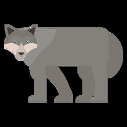 Wolf Räuber Schwanz flach abgerundet geometrisch