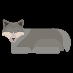 Cola de lobo depredadora plana redondeada geométrica.