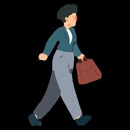 Mujer chaqueta pantalones oreja anillo bolsa plana