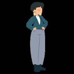 Jaqueta de mulher calças anel de orelha plana