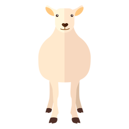 Wool sheep lamb hoof flat