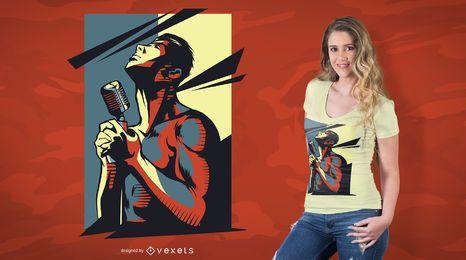 Rock Singer T-Shirt Design