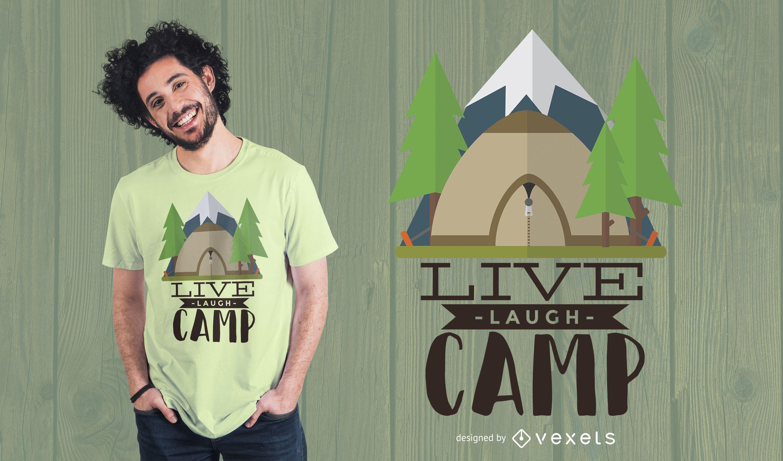 Dise?o de camiseta Live Laugh Camp