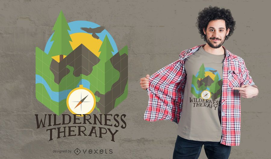 Wilderness Camping T-Shirt Design