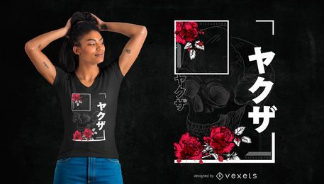Design urbano japonês do t-shirt