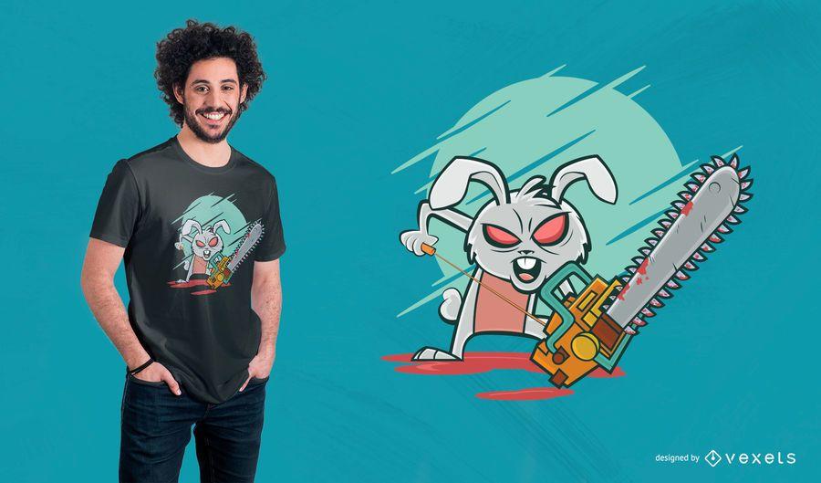 Diseño de camiseta de Crazy Bunny