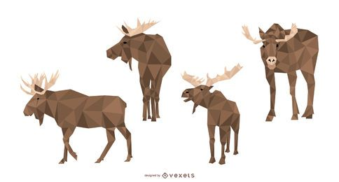 Moose Polygonal Vector Set