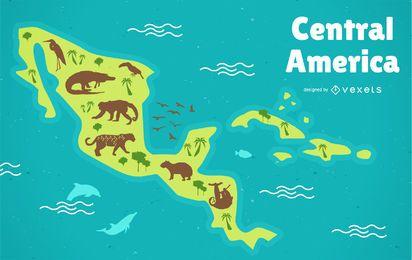 Mittelamerika-Karte