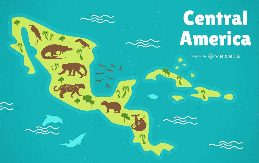 Central America Map - Vector download
