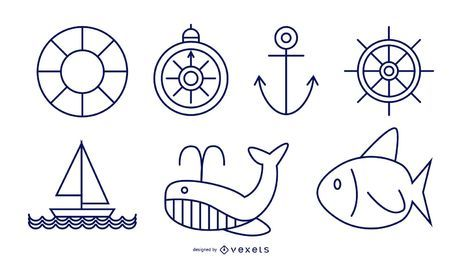 Nautical Line Style Set