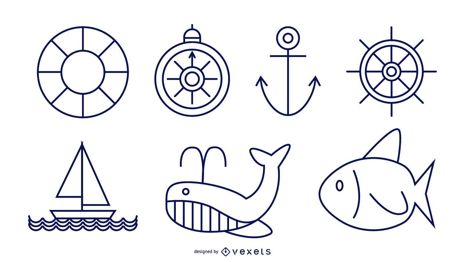 Nautical Line Style Set