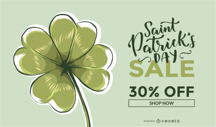 Saint Patrick Verkauf Promo Design