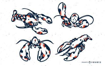 Lobster Duotone illustration et