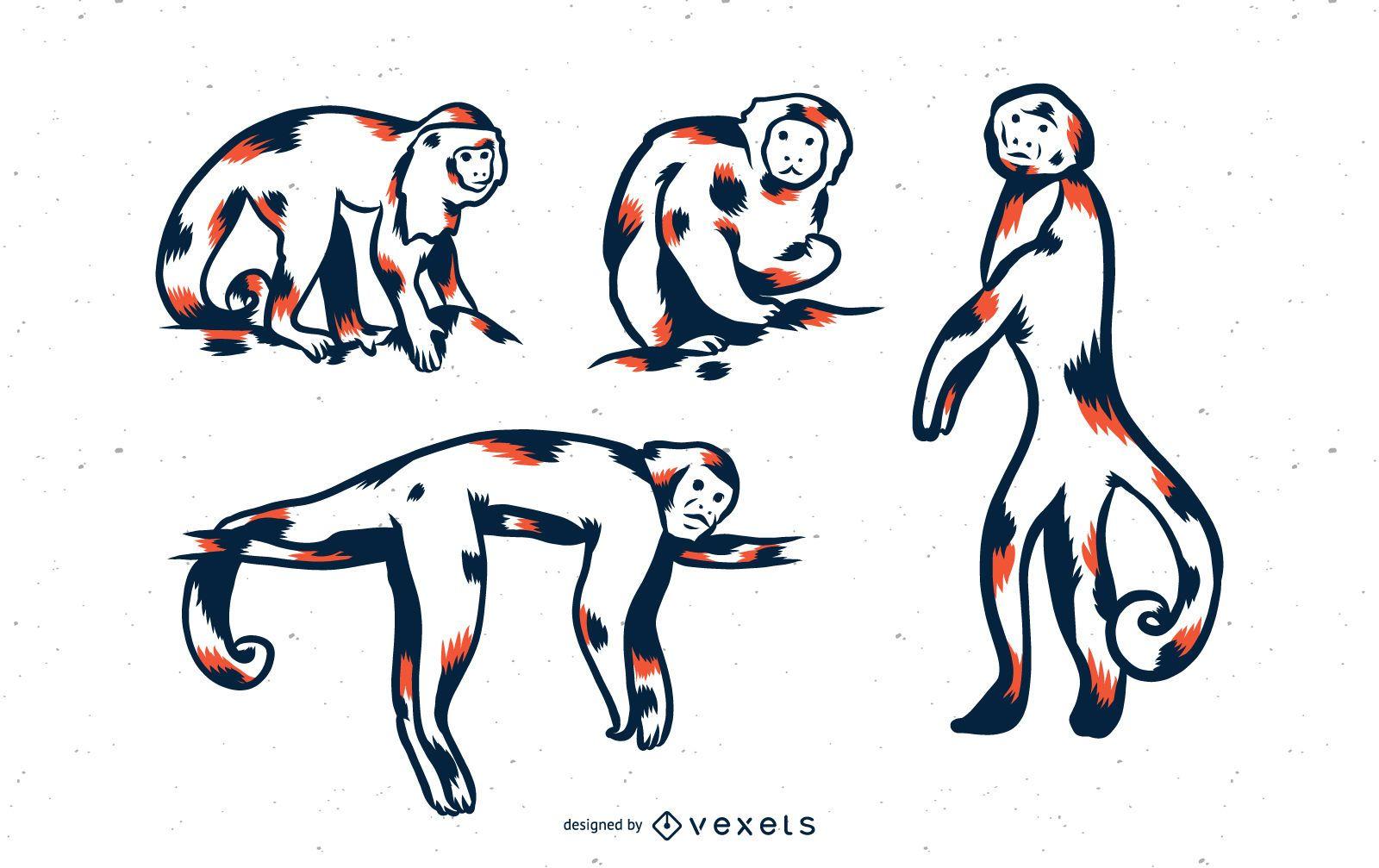 Monkey Duo Tone Set