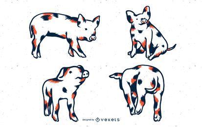 Conjunto de tonos de cerdo duo
