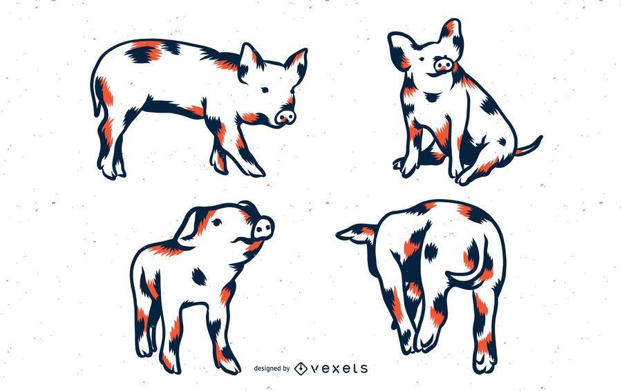 Pig Duo Tone Set