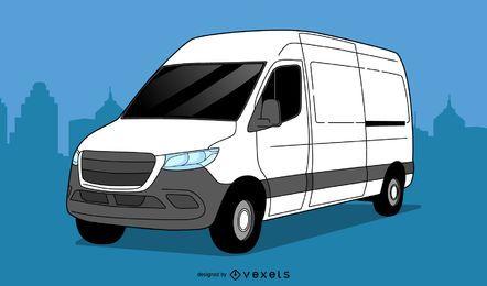 Diseño de ilustración de camioneta SUV