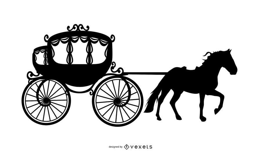 Cinderela Silhueta Vector Design