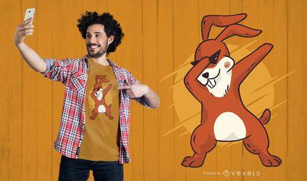 Dabbing Bunny T-Shirt Design