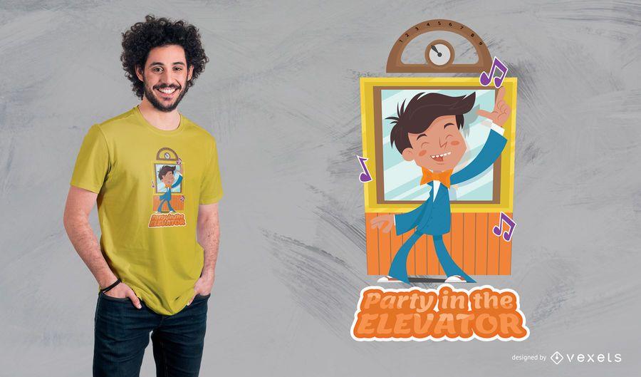 Diseño de camiseta de elevador de fiesta