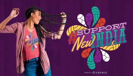 Projeto novo do t-shirt de India