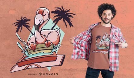 Serigrafía Diseño de camiseta llameante