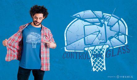 Controle o design do t-shirt de vidro