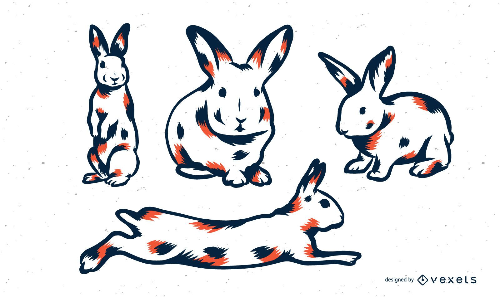 Rabbit Duo Tone Set
