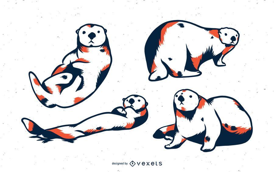 Sea Otter Duo Tone Set