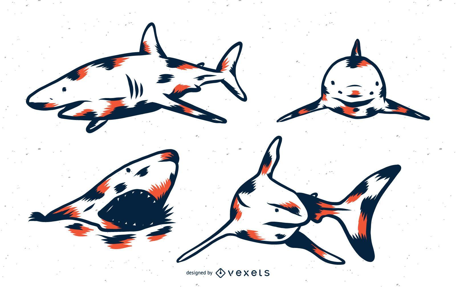 Shark Duo Tone Set