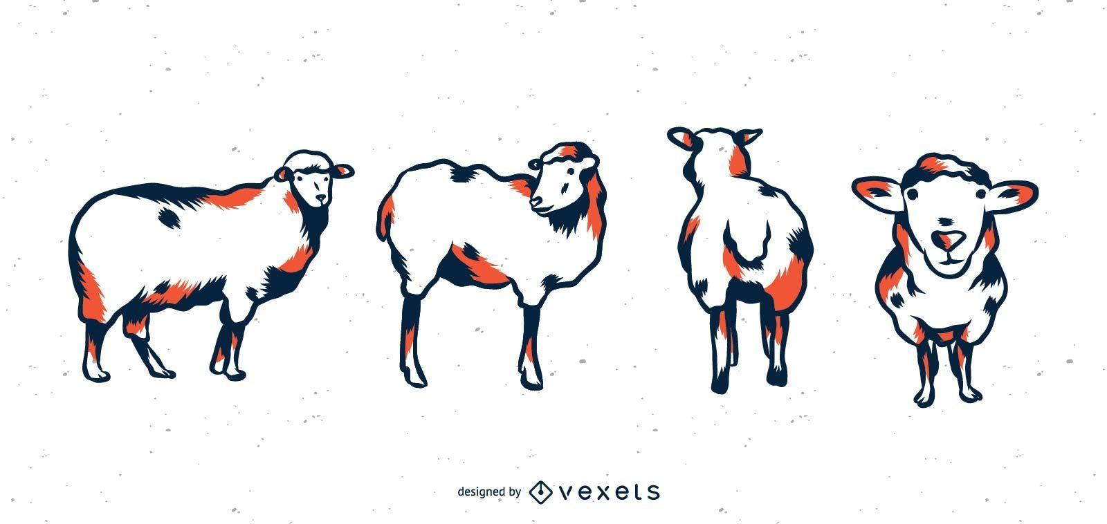 Sheep Duo Tone Set