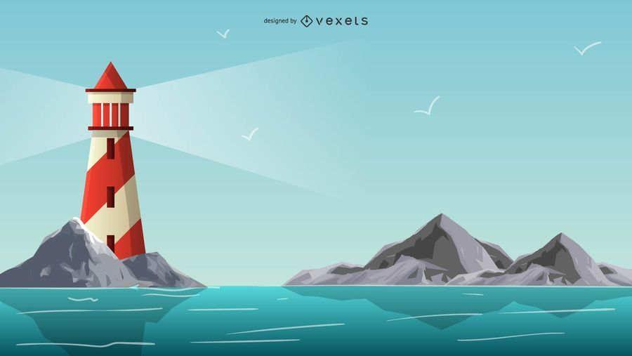 Faro, ilustración, diseño