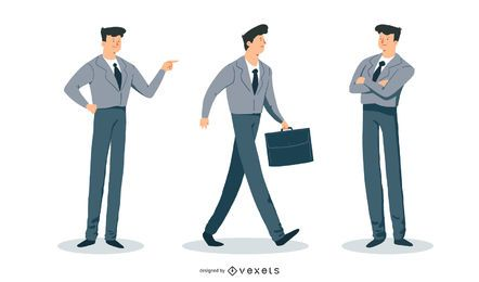 Yuppie Man Vector Set