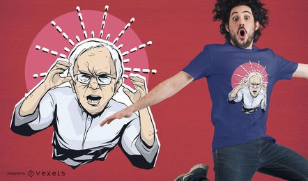 Diseño de camiseta Angry Bernie Sanders