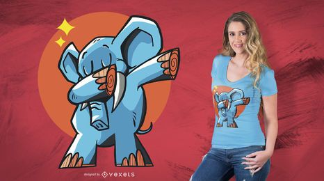Dabbing Elephant T-Shirt Design