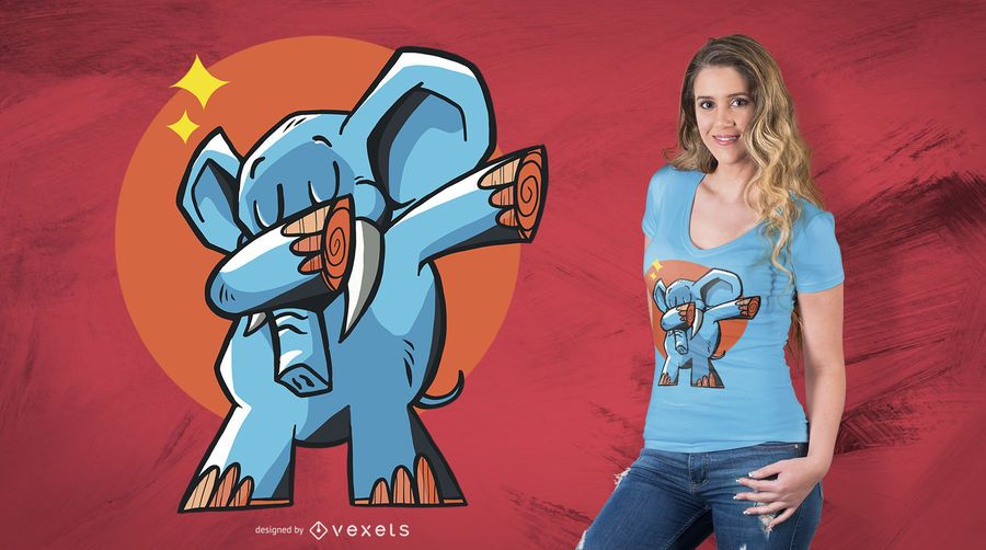 Tupfendes Elefant-T-Shirt Design
