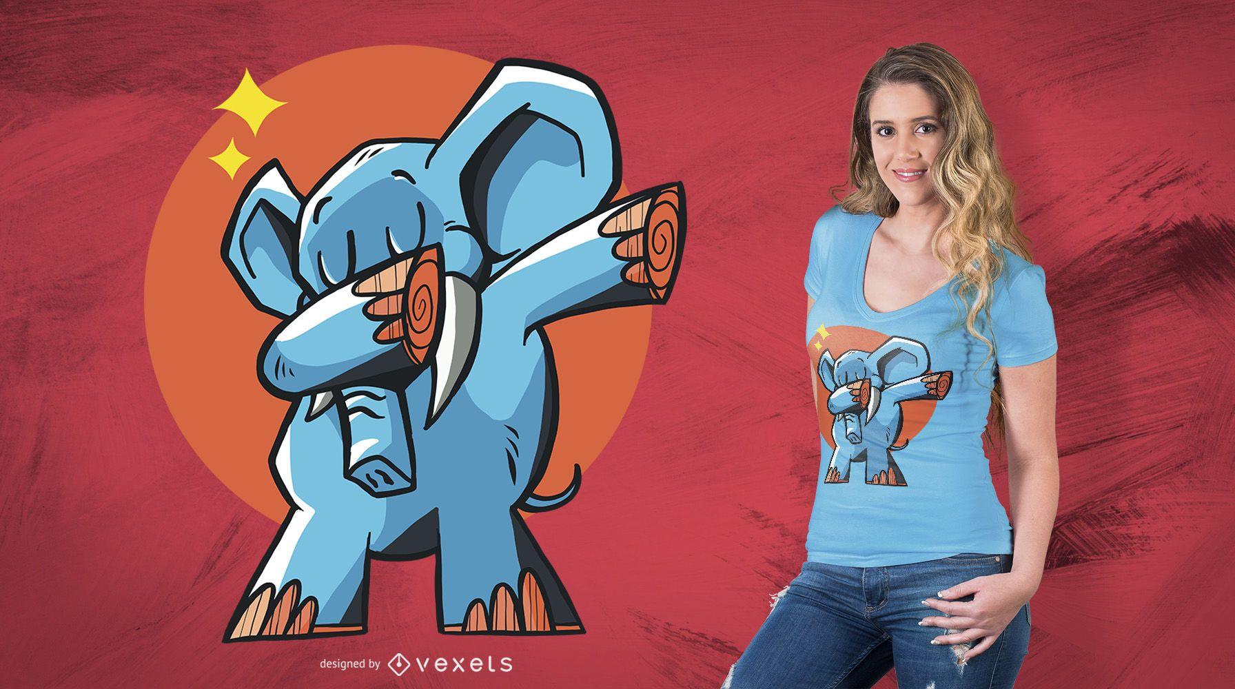 Dabbing Elephant T-Shirt Design