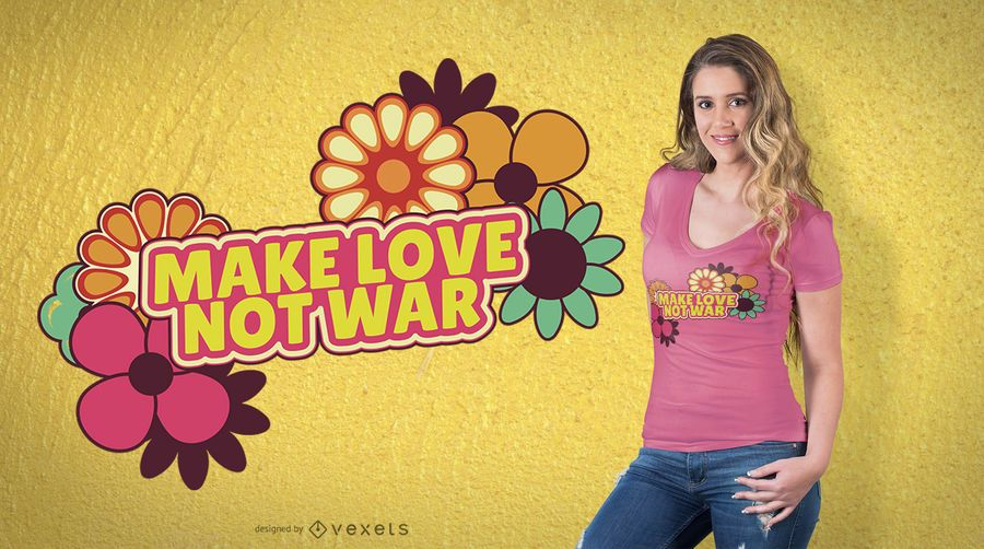 Machen Sie Liebe nicht Krieg T-Shirt Design