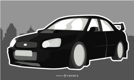Black Sleek Car Illustration