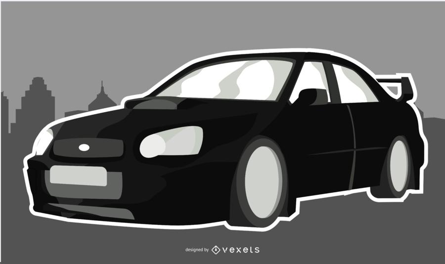 Black Sleek Car Illustration