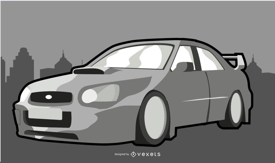 Ilustración de coche moderno blanco