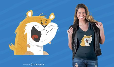 Design engraçado do t-shirt do hamster