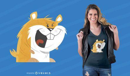 Funny Hamster T-Shirt Design