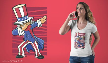 Getupfter Uncle Sam T-Shirt-Entwurf