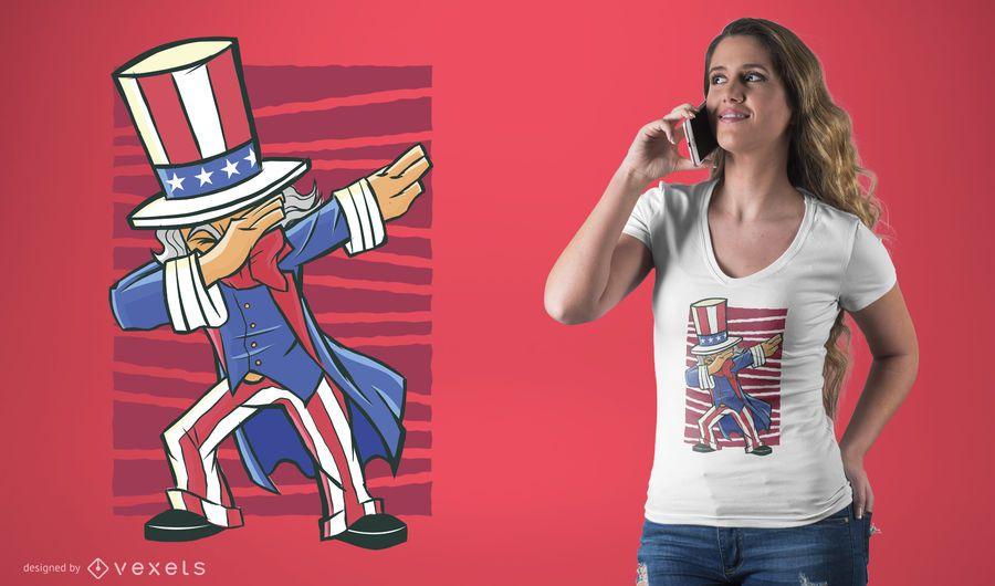 Dabbing Uncle Sam T-Shirt Design