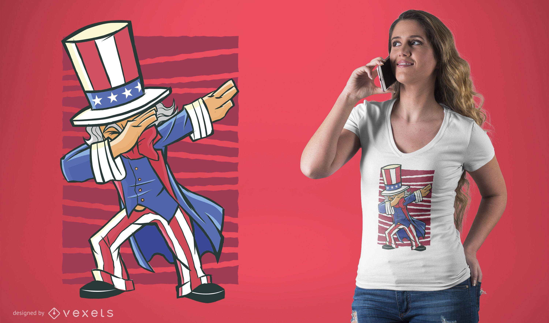Diseño de camiseta Dabbing Uncle Sam