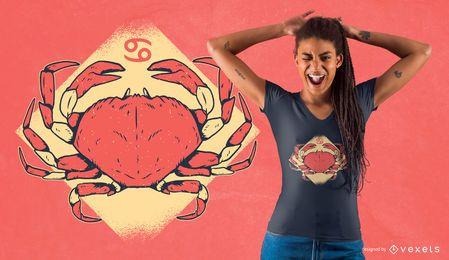 Krebs-Tierkreis-Zeichen-T-Shirt Entwurf